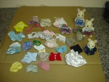 bundle of Sylvanian  Familes Rabbits and clothes some rare good condition lot5