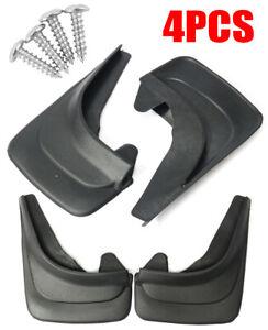 4x Car Mud Flap Mudflaps Fender Mouldings Trim Universal Black ABS Soft Plastic