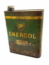 Vintage French BP ENERGOL Metal Oil Can