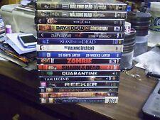 (21) Zombie Horror DVD Lot: Walking Dead 1 & 2 World War Z George A. Romero MORE