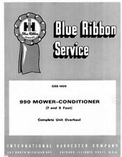 International 990 Mower Conditioner 7 and 9 Ft Complete Overhaul Service Manual