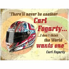 "Original Metal Sign Co Metal Wall Sign Carl Fogarty Helmet Vintage Style 8"" x 6"""