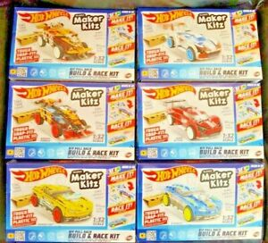 Hot Wheels Maker Kitz Kits Build & Race DIY Kit Pull Back Car Stunt Ramp STEM 6+