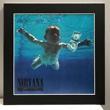 "Nirvana ""Nevermind� Pro Matted Album Art, Alternative Rock, 12�x12� Kurt Cobain"