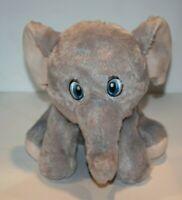"Kellytoy ELEPHANT 10"" Gray Plush Soft Toy Grey Stuffed Animal Sewn Blue Eye 2018"