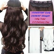 100% Real Thick Clip In Hair Extensions Full Head Hair Extentions Long Blonde US