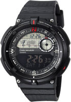 Casio Men's 'Twin Sensor' Quartz Black Resin Gray Dial Watch SGW-600H-1B