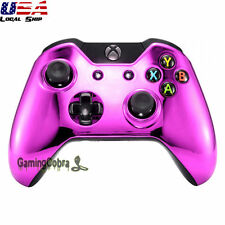 Top Front Housing Shell Faceplate Parts for Xbox One Controllers - Chrome Pink