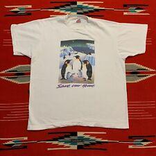 New listing Vintage Save Our Planet Penguin Graphic T Shirt Size Xl
