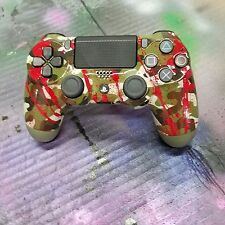 Sony PlayStation 4 PS4 Controller -Red Spatter- Camo-Brand New-Custom Painted