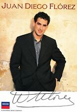 JUAN DIEGO FLOREZ opera tenor signed photo