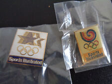 SPORTS ILLUSTRATED Olympic Pin Lot Collectible 2 Pins Barcelona Los Angeles