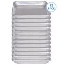 "12 Pack 9"" x 13"" Aluminum Sheet Baking Tray Pan Quarter Sheet Commercial Grade"