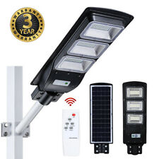 99000LM LED Solar Street Light Outdoor Commercial IP67 Dusk to Dawn Road Lamp A+