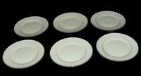 6 Vtg Harmony House China Bread Butter Plates Mary 3835 White Silvertone  #1