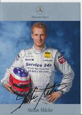 Stefan Mücke  DTM  Mercedes 2003 Autogrammkarte Druck signiert 384922