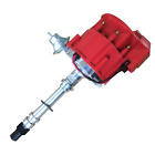 For Chevy V8 HEI Distributor w/ 65K Coil 7500RPM 350 454 SBC BBC Aluminum Red