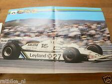 122 POSTER LEYLAND VEHICLES NO 27 WILLIAMS GRANDPRIX CAR FORMULA ONE 1980