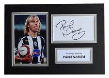 Pavel Nedved Signed Autograph A4 photo display Juventus Football AFTAL COA