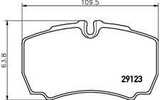 4x HELLA PAGID Pastillas de Freno Traseras Para IVECO DAILY 8DB 355 005-381
