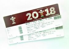 Rugby Six Nations Memorabilia / Tickets Wales v Italy 11/03/18 Ticket Stub(s)