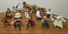 Vintage 1999-2001 PAPO SCHLEICH Toy Knights Medieval Action Figures - Lot of 14