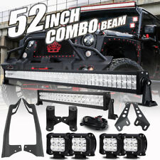 "Mount Bracket Fit Jeep Wrangler JK+52inch 700W+22"" 280W+4"" 18W LED Light bar Set"