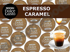 Dolce Gusto Espresso Caramel Coffee Pods 100 Capsules 100 Drinks Sold Loose