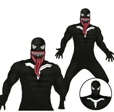 Adult Dark Superhero Villian Fancy Dress Costume Mens Halloween Scary M/L Choose