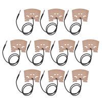 10 Pcs Electric Violin Bridge With Internally Piezo Pickup for 4/4 Violin Bridge