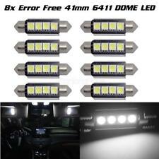 8x 42mm 5050 Led 4smd Canbus Festoon No Error White Interior Light Bulb