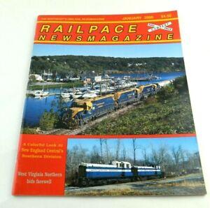 Railpace News Magazine Newsmagazine Train Illustrated Picture Info January 2000
