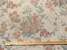 Floral Fabric Brocade Pastels Cream Pink Green Shabby Home Decor Chic Berries