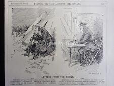 WW1 1916 8th NOV lettere frrom la parte anteriore del punzone CARTOON