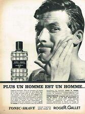 F- Publicité Advertising 1962 Lotion after shave homme Roger & Gallet