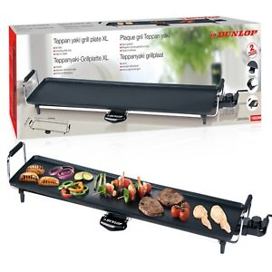 Dunlop Electric 87x23cm XXL Teppanyaki Grill Barbecue Table Top Griddle Party