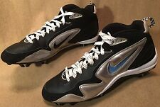Mens Shoes Nike Football Cleats Black Silver. EXCELLENT SHAPE!  Size 16 Nice !
