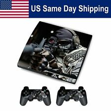 Sticker Vinyl Protect  Skin Decals for PS3 SLIM Console&Controller Set Cover