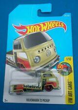 Hot wheels volkswagen t2 pickup bay window single cab flatbed pickup