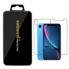 "SOINEED® Apple iPhone XR 6.1"" FRONT + BACK Clear Screen Tempered Glass Protector"