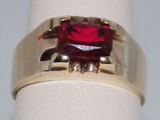 10k Gold Ring with a Ruby(July birthstone)