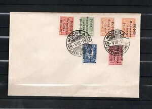 Russia 1922 Philately for Children SET Cut ON COVER