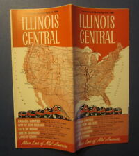 Old 1966 - ILLINOIS CENTRAL RAILROAD - TIMETABLES - Apr 24