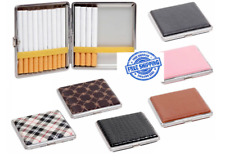 ASSORTED LEATHER LOOK METAL COVERED CIGARETTE CASE UK STOCK FAST&FREE DISPATCH