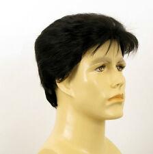 Perruque homme 100% cheveux naturel noir ref DYLAN 1b