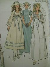 Vintage Butterick 6000 HIGH WAISTED BRIDAL DRESS GOWN Sewing Pattern Women Sz 12
