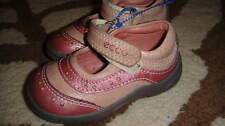 ECCO LEATHER PINK GIRLS SHOES 20 US 5