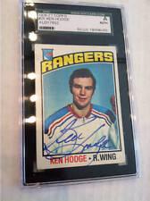 Ken Hodge Rangers Autographed 1976-77 Topps Card Sgc A Authentic