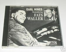 Earl Hines - Remembering Fats Waller (1993) Used CD