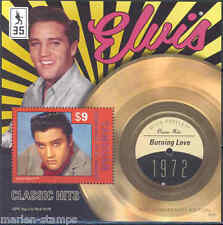 CANOUAN  2012 'ELVIS PRESLEY' BURNING LOVE   RECORD SOUVENIR SHEET MINT NH